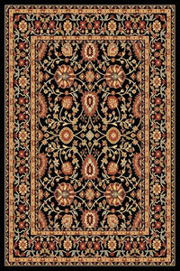Dynamic Rugs Yazd Black-Black Classic Rectangle Area Rug
