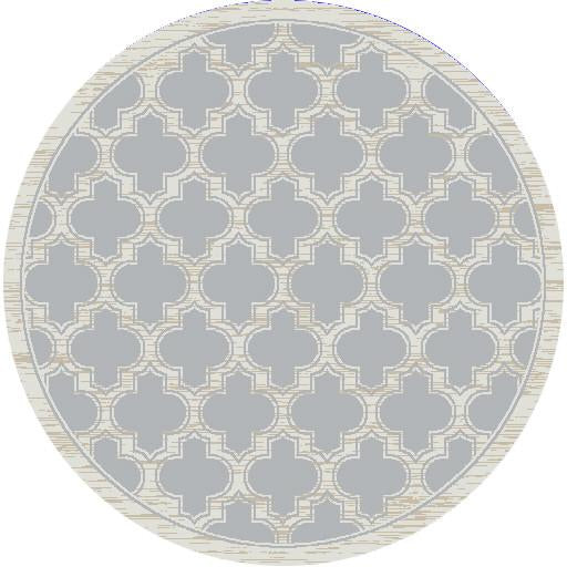 Dynamic Rugs Yazd Grey/Ivory Classic Round Area Rug