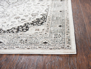 Rizzy Home Zenith ZH7102 Ivory Central Medallion Area Rug