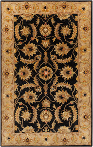 Surya Ancient Treasures A171 Black/Brown Classic Area Rug