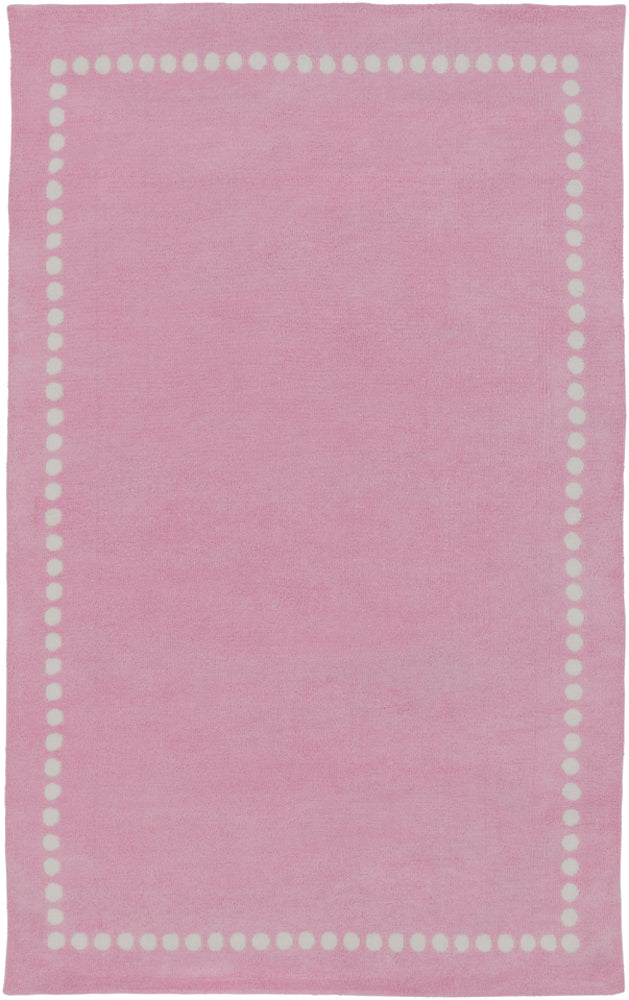 Surya Abigail ABI9074 Pink/Neutral Solids and Borders Area Rug