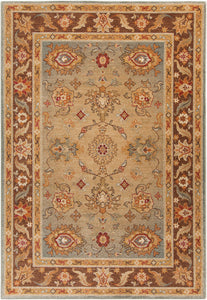 Surya Arabesque ABS3011 Brown/Orange Classic Area Rug