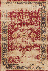 Surya Arabesque ABS3034 Pink/Black Classic Area Rug