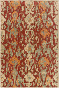 Surya Arabesque ABS3056 Brown/Red Ikat and Suzani Area Rug