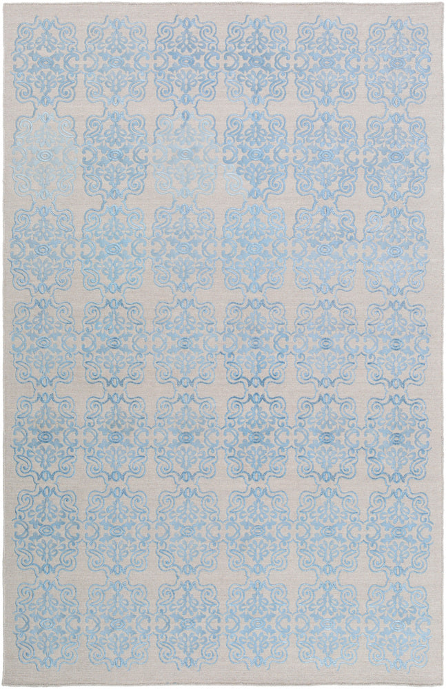 Surya Adeline ADE6001 Blue/Grey Medallion and Damask Area Rug