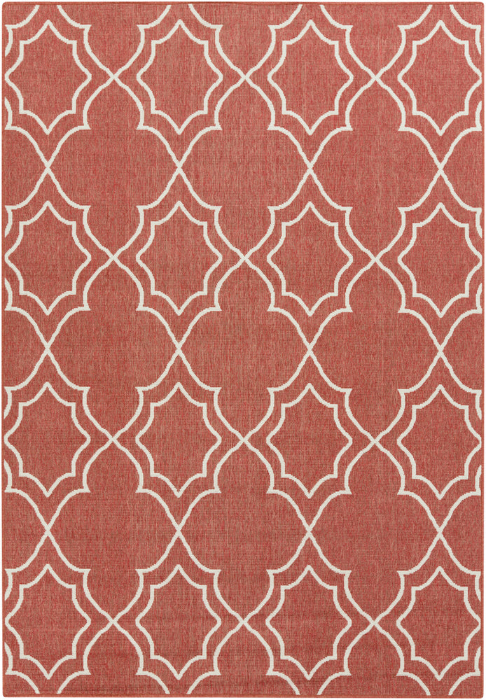Surya Alfresco ALF9591 Red/Neutral Outdoor Area Rug