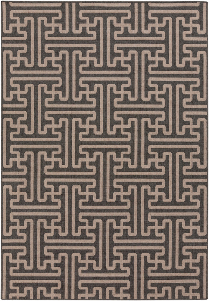 Surya Alfresco ALF9604 Black/Brown Outdoor Area Rug