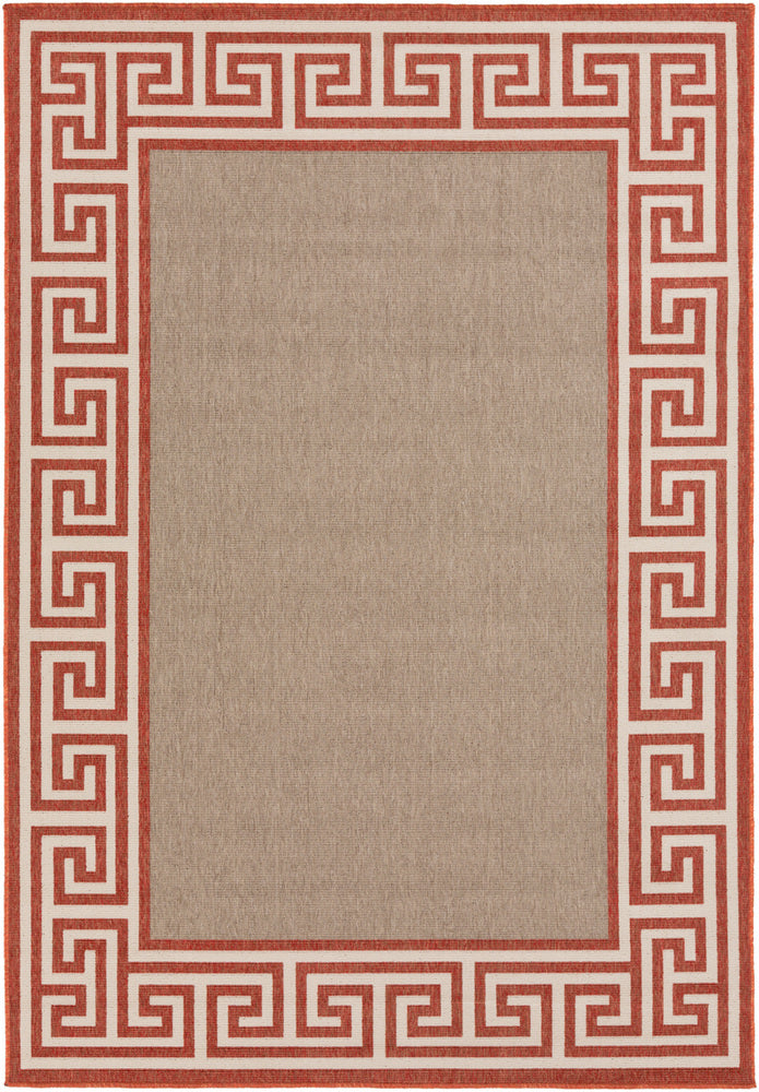 Surya Alfresco ALF9628 Red/Brown Outdoor Area Rug
