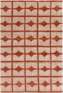 Surya Alexandra ALX1004 Brown/Red Geometric Area Rug
