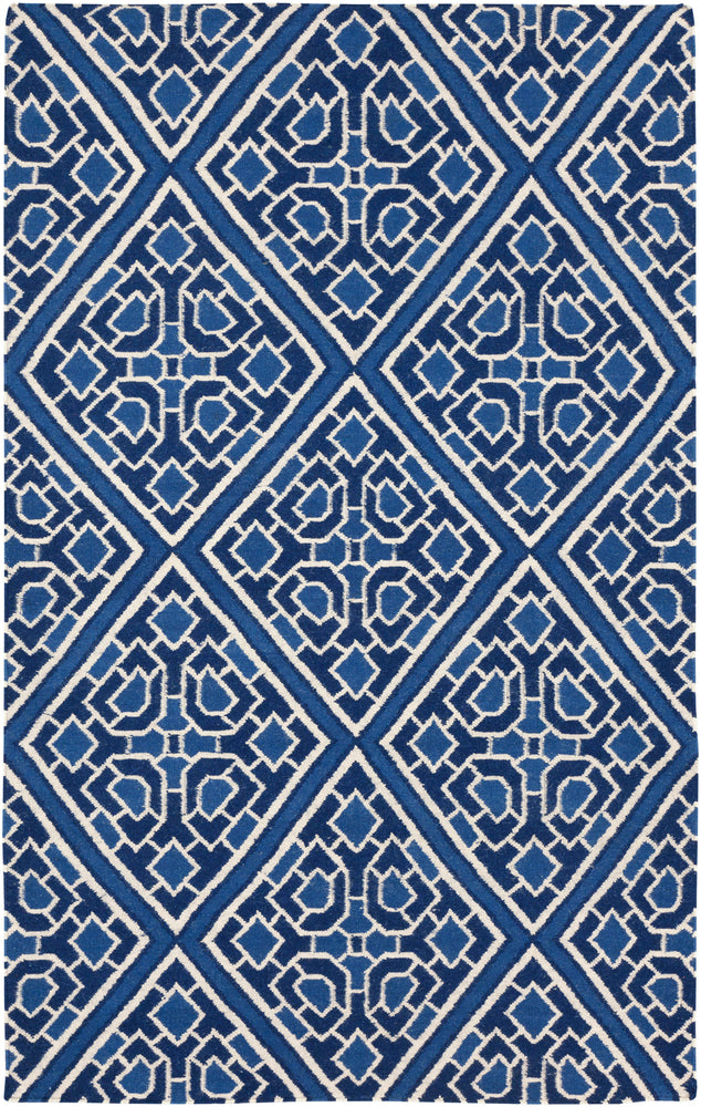 Surya Alameda AMD1005 Blue/Neutral Flatweave Geometric Area Rug