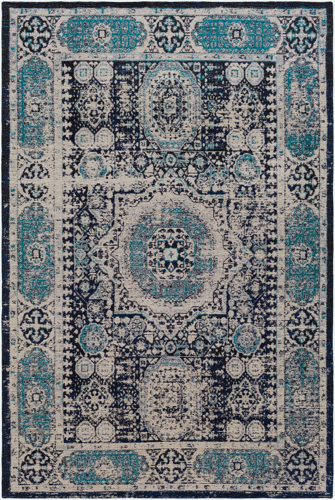 Surya Amsterdam AMS1013 Navy/Light Gray Area Rug
