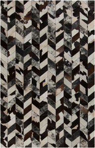 Surya Appalachian APP1002 Black/Brown Hides and Leather Area Rug