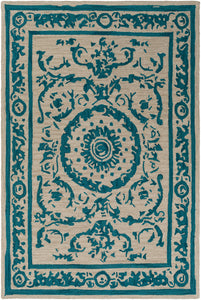 Surya Armelle ARM1003 Teal/Tan Area Rug