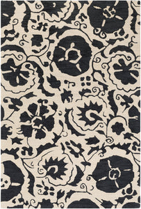 Surya Armelle ARM1012 Black/Cream Area Rug