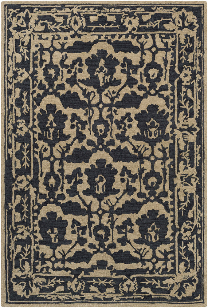 Surya Armelle ARM1032 Black/Tan Area Rug