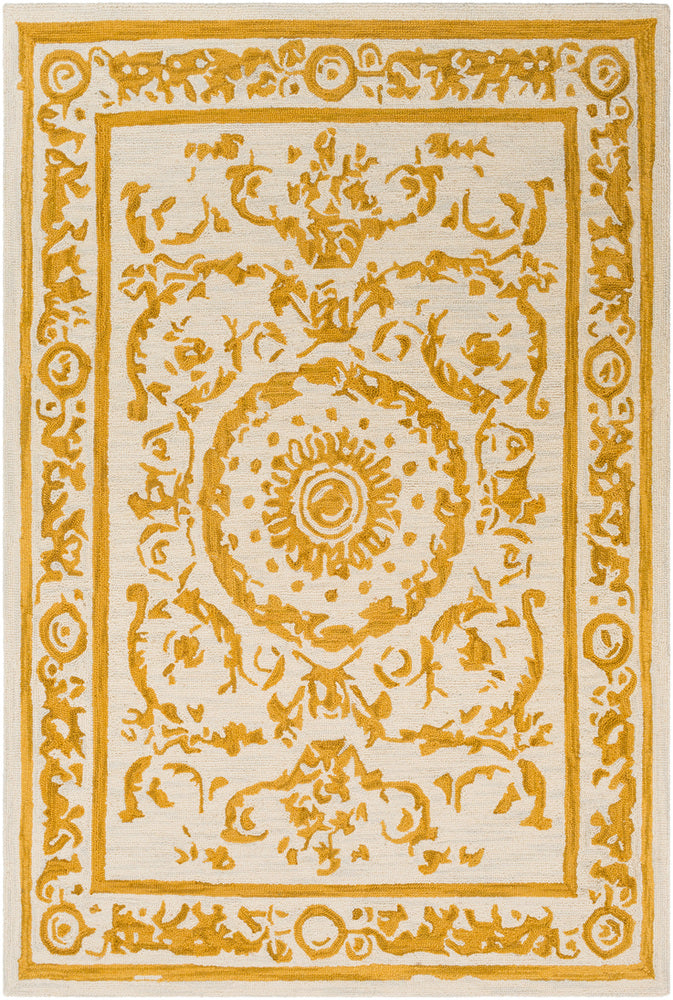 Surya Armelle ARM1034 Mustard/Cream Area Rug