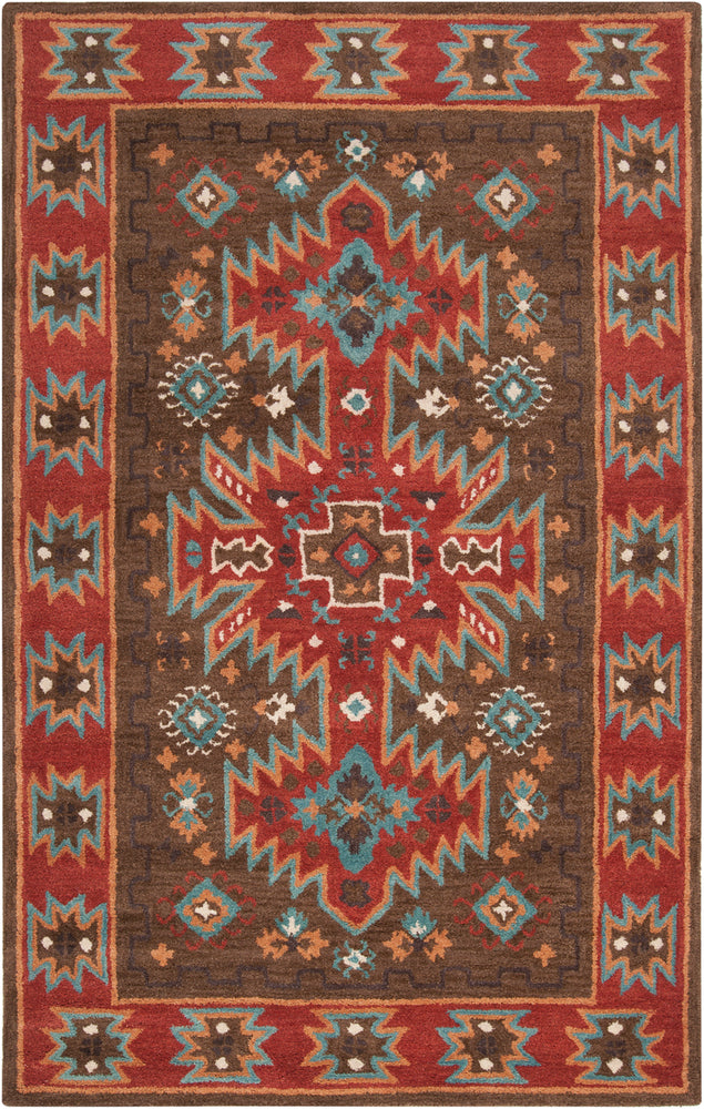 Surya Arizona ARZ1004 Brown/Red Southwest Area Rug