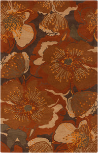 Surya Athena ATH5102 Red/Brown Floral and Paisley Area Rug