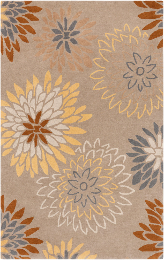 Surya Athena ATH5106 Grey/Green Floral and Paisley Area Rug