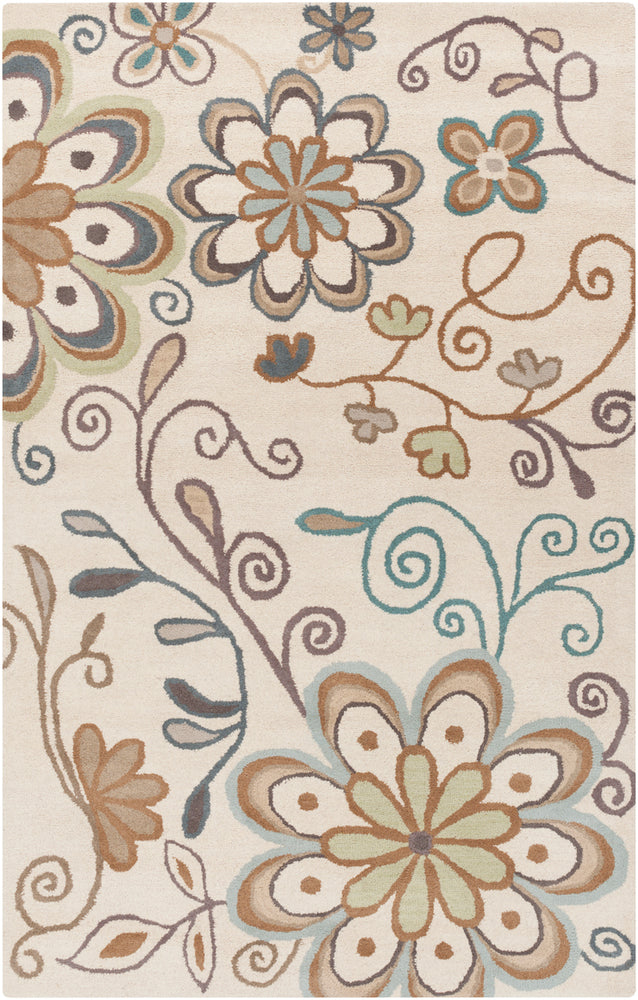 Surya Athena ATH5123 Blue/Brown Floral and Paisley Area Rug