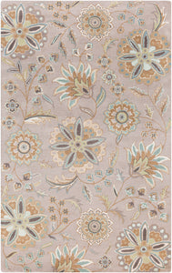 Surya Athena ATH5127 Blue/Brown Floral and Paisley Area Rug