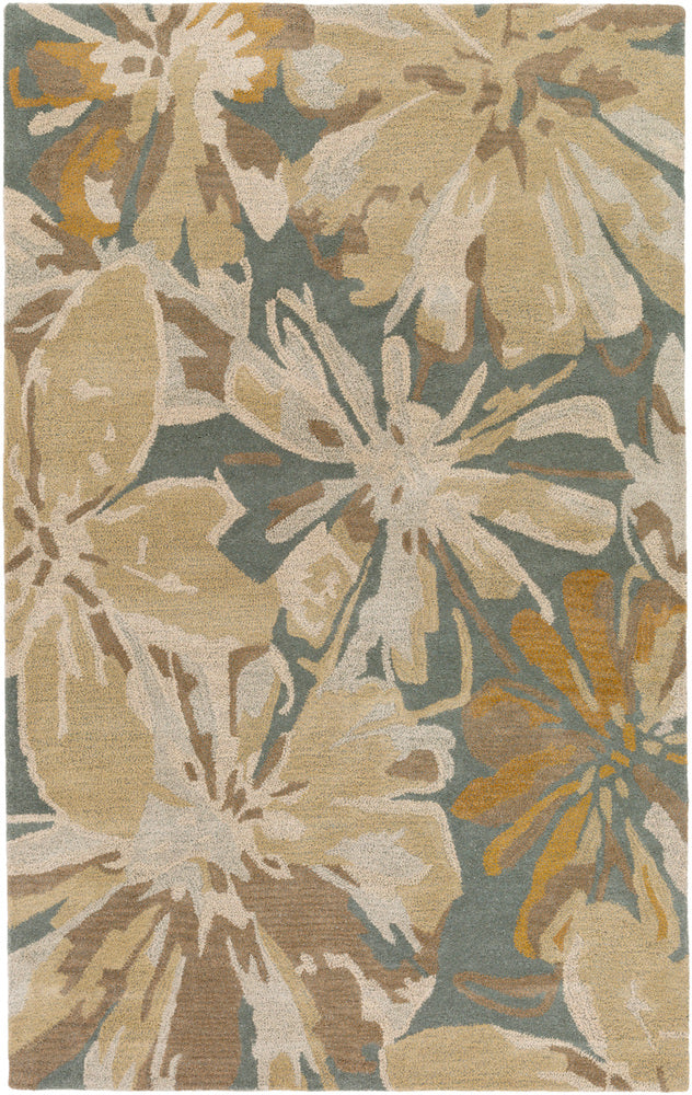 Surya Athena ATH5149 Brown/Blue Floral and Paisley Area Rug
