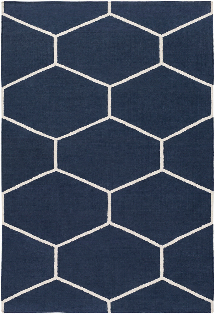 Surya Atrium ATM3012 Blue/Neutral Geometric Area Rug