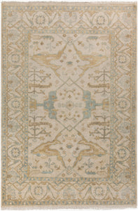 Surya Antique ATQ1000 Green/Neutral Classic Area Rug