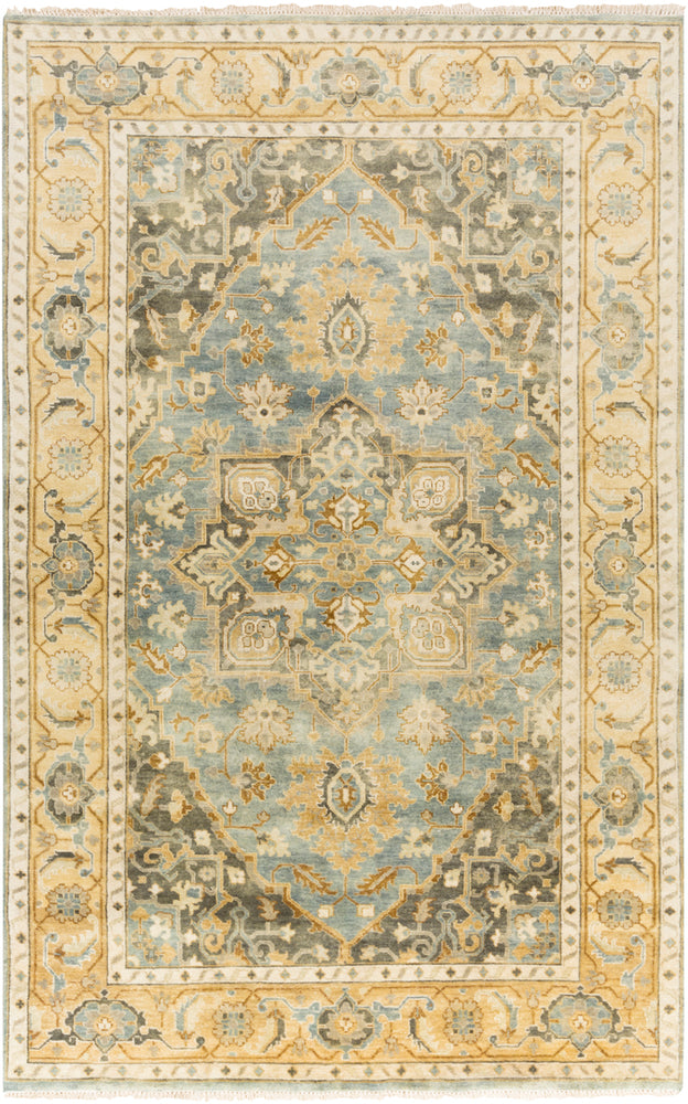 Surya Antique ATQ1012 Blue/Brown Classic Area Rug