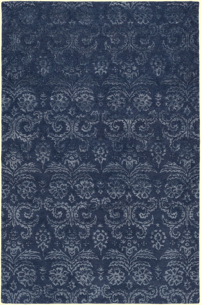 Surya Avignon AVI2003 Blue/Green Medallion and Damask Area Rug