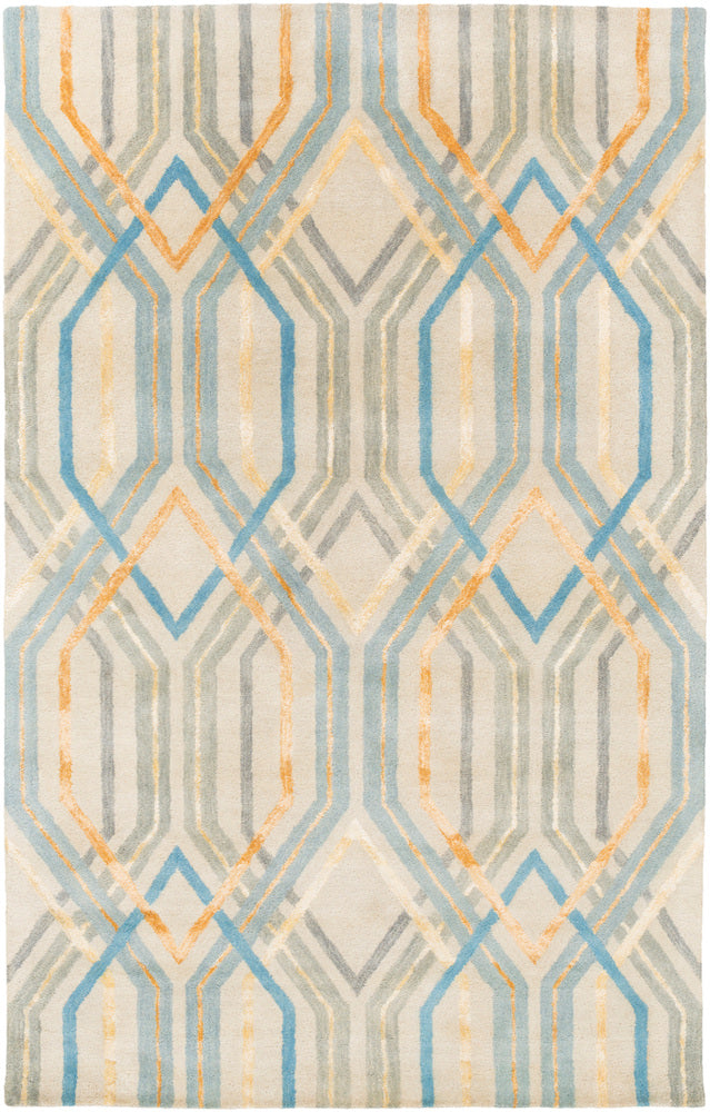Surya Banshee BAN3391 Blue/Brown Geometric Area Rug