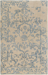 Surya Bagras BGR6006 Blue/Brown Traditional Area Rug