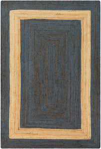 Surya Brice BIC7013 Blue/Brown Natural Fiber Area Rug