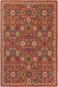 Surya Bukhara BKR1002 Red/Yellow Modern Area Rug