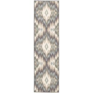 Oriental Weavers Brentwood Ivory/Blue Abstract 531K9 Area Rug
