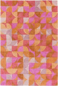 Surya Brilliance BRL2014 Purple/Orange Geometric Area Rug