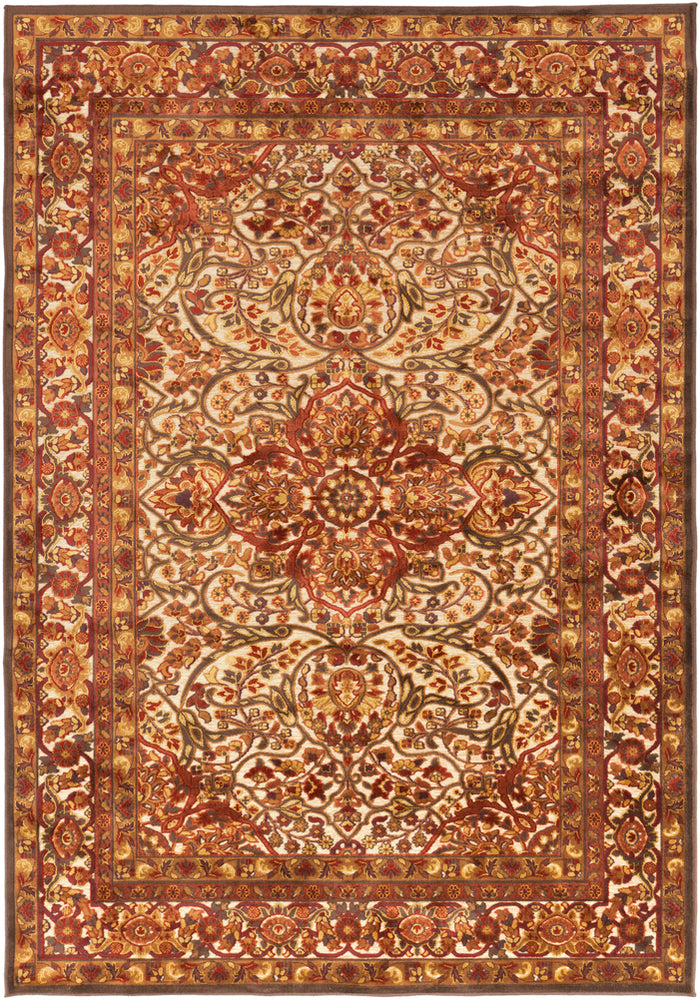 Surya Basilica BSL7200 Red/Brown Classic Area Rug