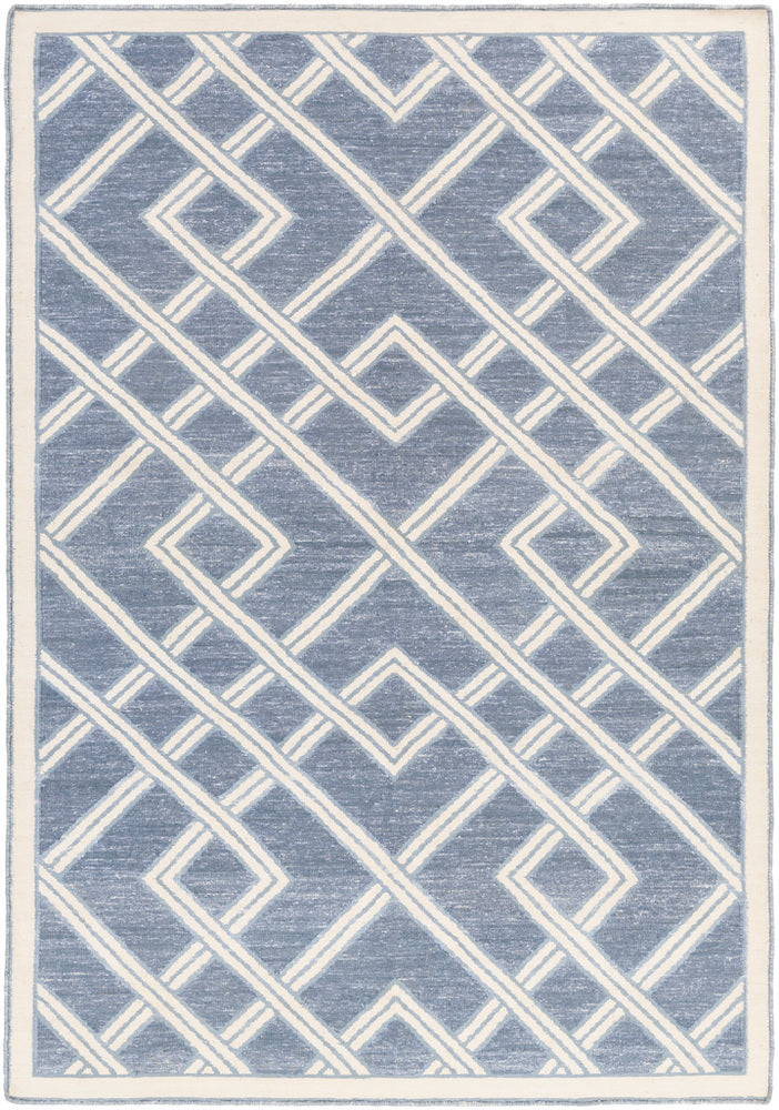 Surya Brighton BTN4004 Blue/Neutral Geometric Area Rug