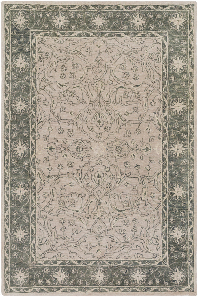 Surya Blumenthal BUH1003 Green/Brown Classic Area Rug