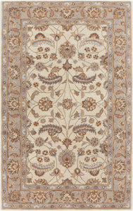 Surya Caesar CAE1115 Neutral/Purple Classic Area Rug