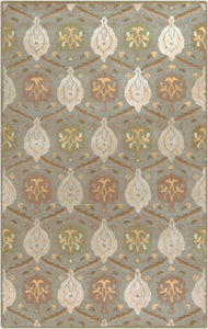 Surya Caesar CAE1122 Neutral Medallion and Damask Area Rug