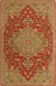 Surya Caesar CAE1147 Red/Brown Traditional Area Rug