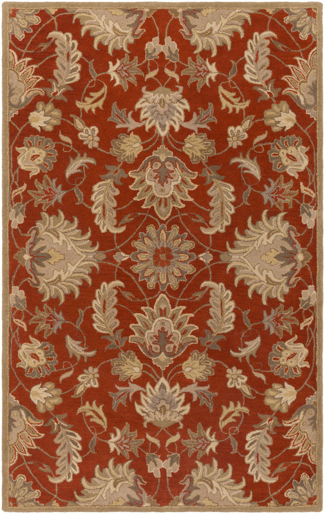 Surya Caesar CAE1187 Red/Neutral Classic Area Rug