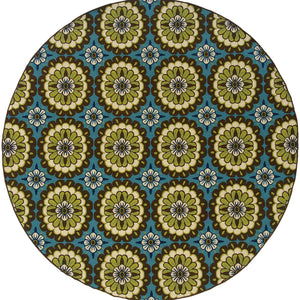 Oriental Weavers Caspian Blue/Brown Floral 8328L Area Rug