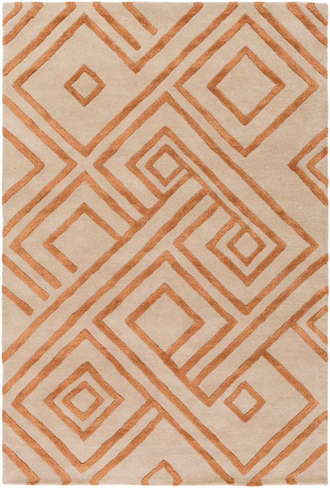 Surya Chamber CHB1012 Neutral/Orange Modern Area Rug
