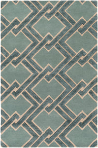 Surya Chamber CHB1020 Green/Neutral Modern Area Rug