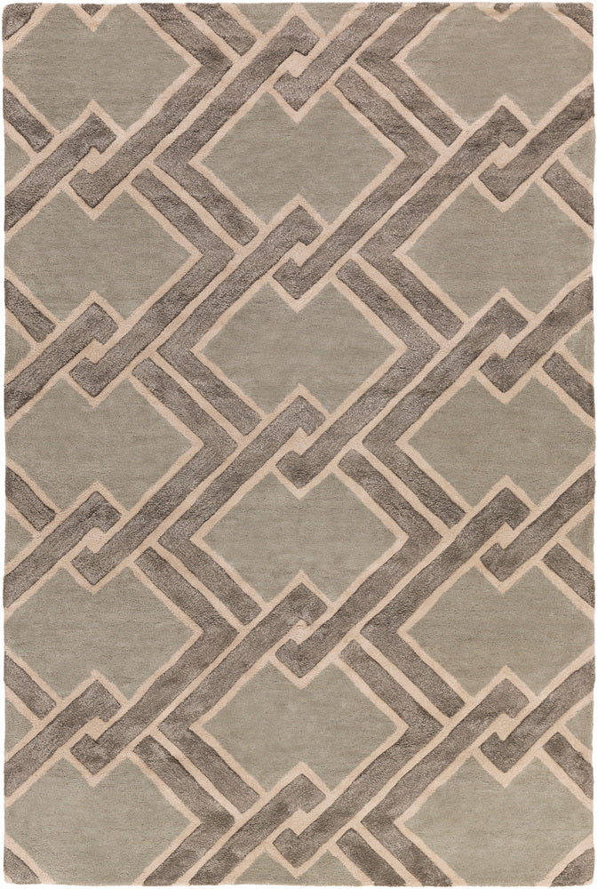 Surya Chamber CHB1021 Grey/Neutral Modern Area Rug