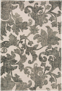 Surya Clarissa CLI3002 Brown/Grey Floral and Paisley Area Rug