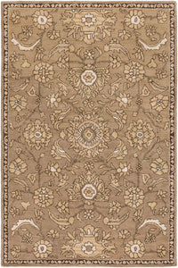 Surya Castello CLL1009 Brown/Neutral Classic Area Rug