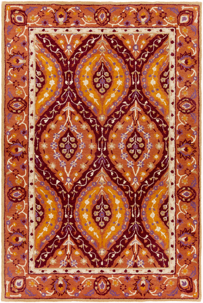 Surya Castello CLL1024 Red/Orange Classic Area Rug